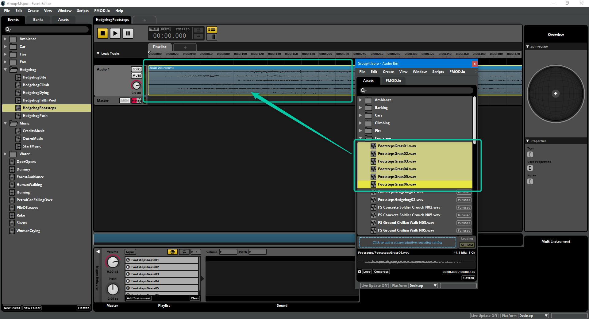 FMOD: Multi Instrument.